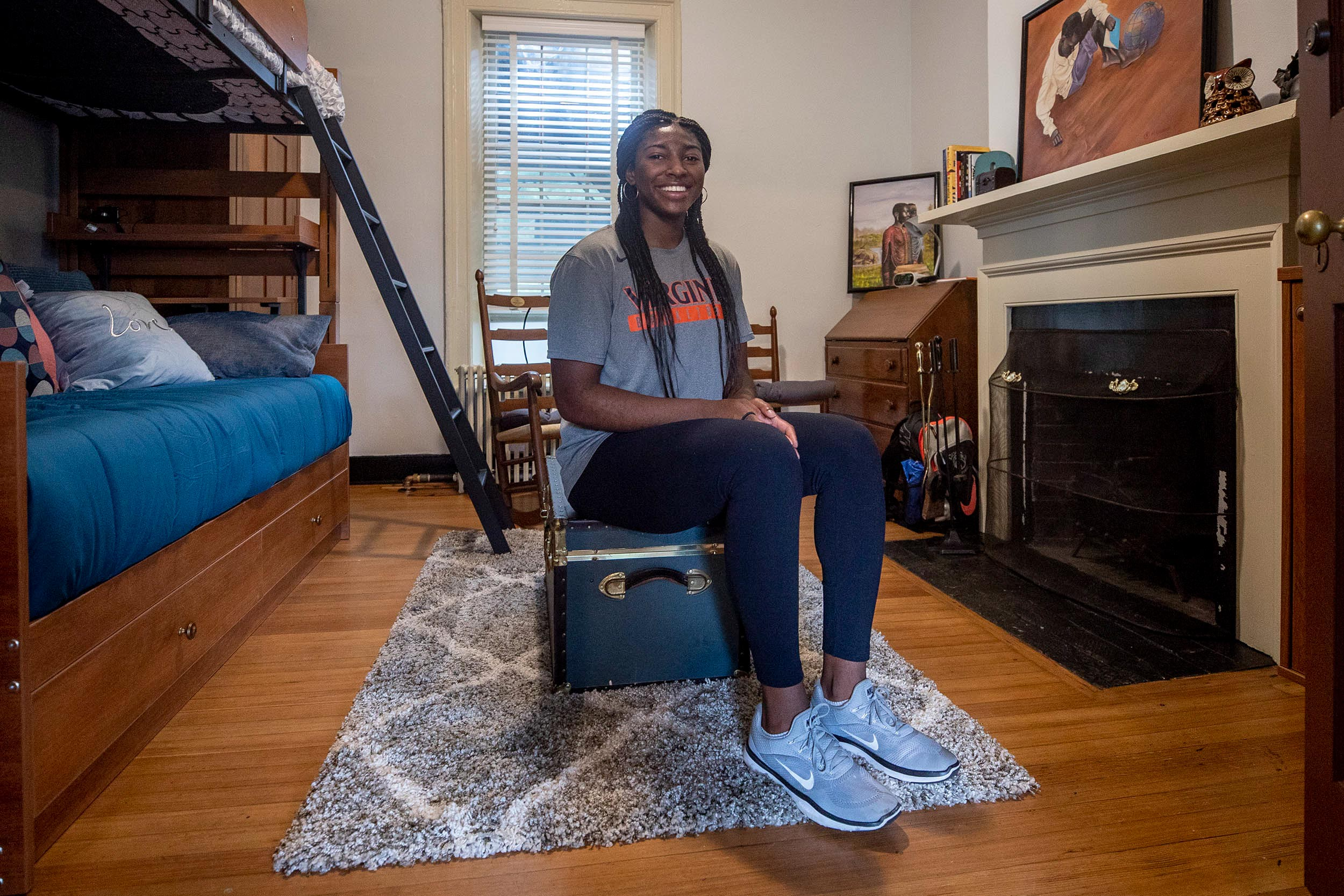 Women's basketball player Jocelyn Willoughby, a rising senior from New Jersey, averaged a team-leading 14.8 points and 8.2 rebounds this past season.