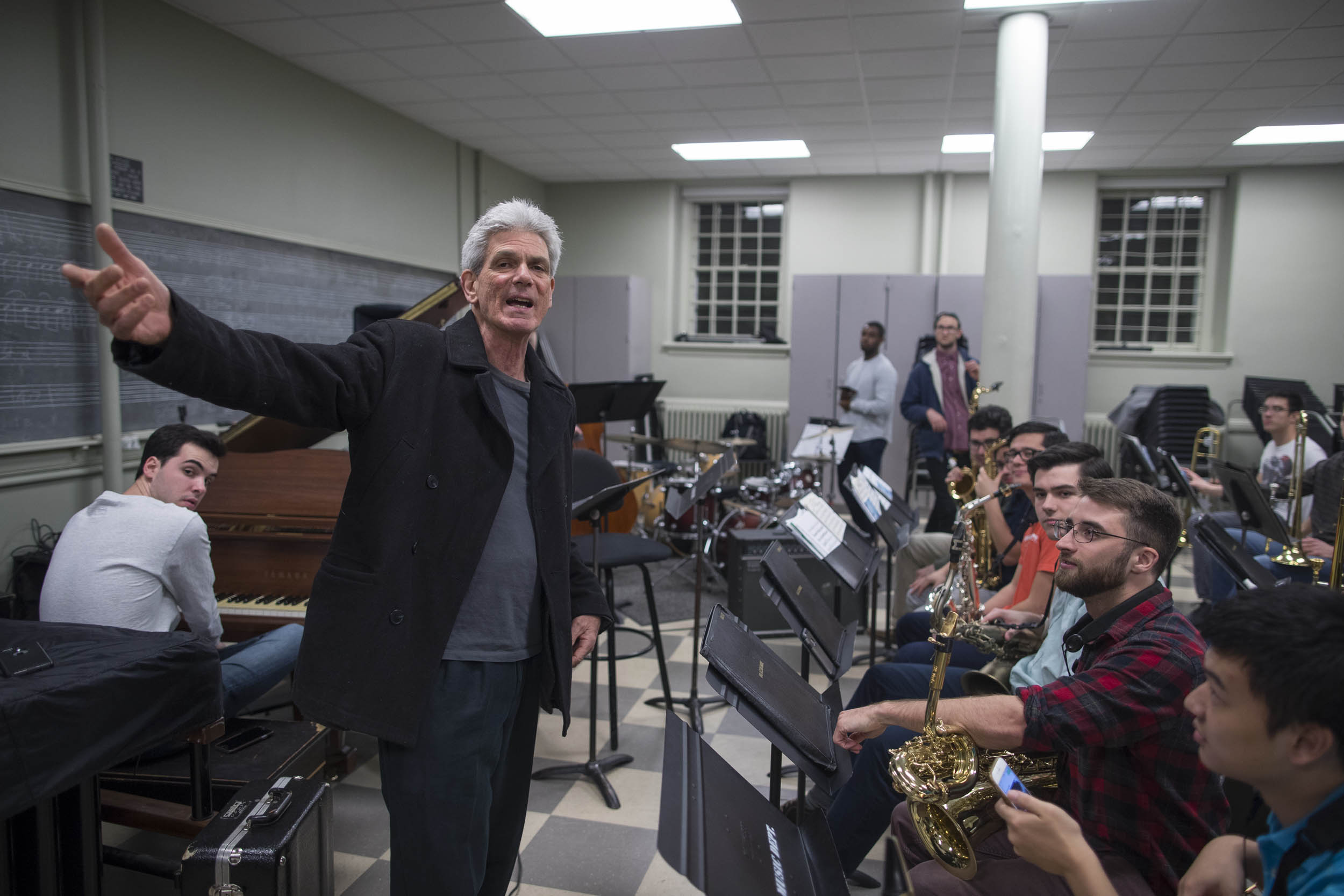 John D'earth of UVA's McIntire Department of Music said part of the ensemble's goal is to get students comfortable with improvising in a big band setting.
