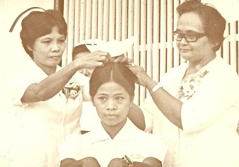 """Jolly Capucao at her capping ceremony in the late 1970s. (Photo courtesy Reynaldo """"Ren"""" Capucao)"""