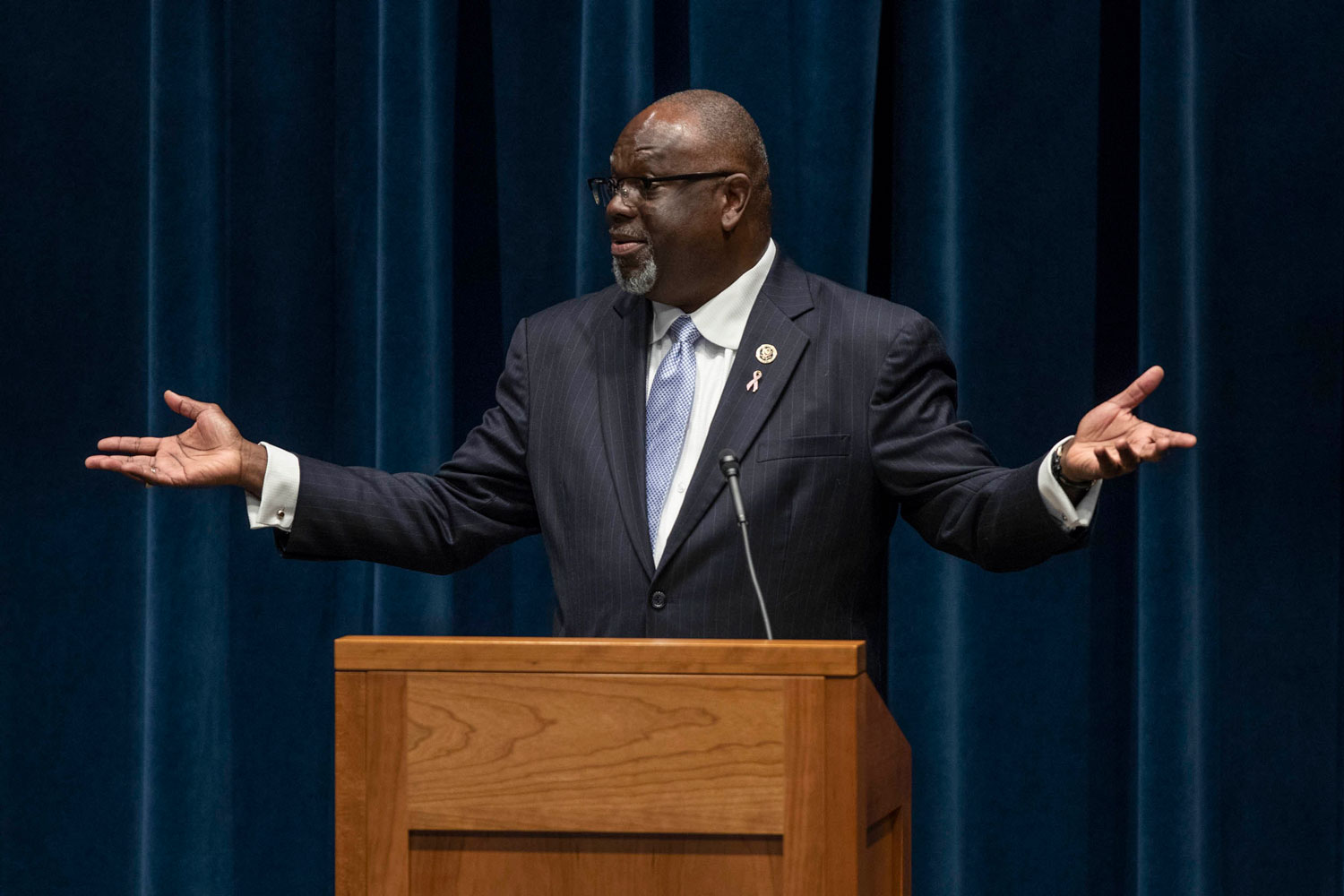 U.S. Judge Carlton Reeves spoke at UVA's School of Law on Thursday, before receiving the Thomas Jefferson Foundation Medal in Law on Friday.