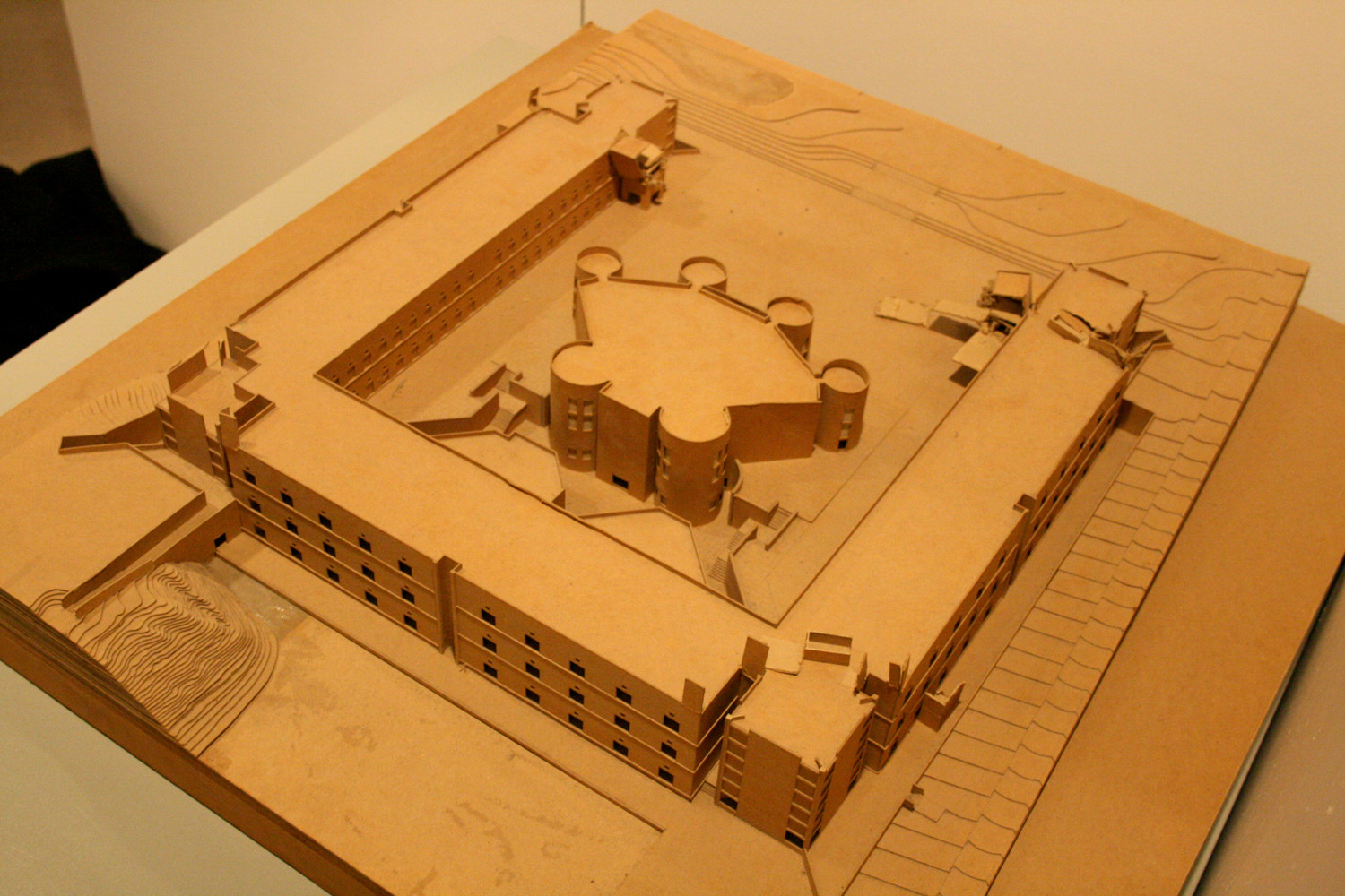 A model of Louis Kahn's Chemistry Building for the University of Virginia is housed with his papers at the University of Pennsylvania (Contributed photo by Brian Cofrancesco)
