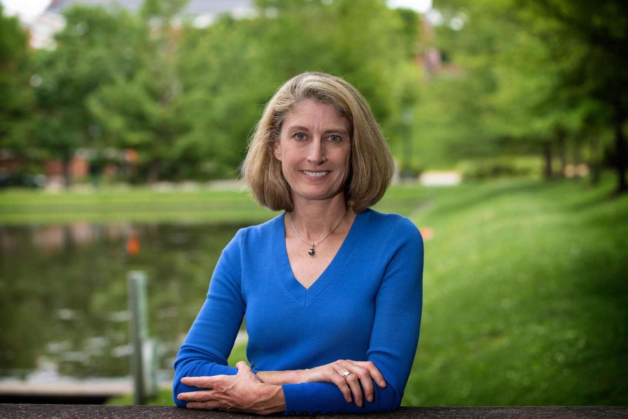 Karen McGlathery directs the Environmental Resilience Institute, which is providing the seed grants to study the aftermath of storms and hurricanes.