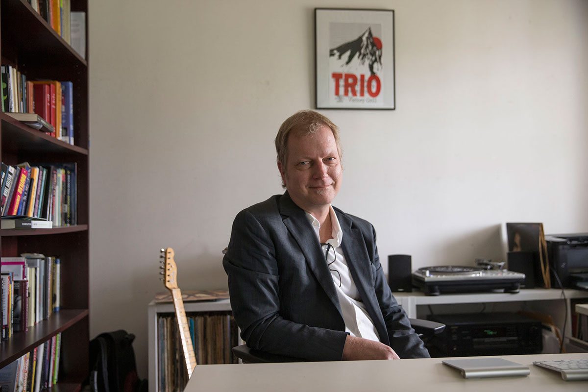UVA music professor Karl Miller teaches a course on popular music.