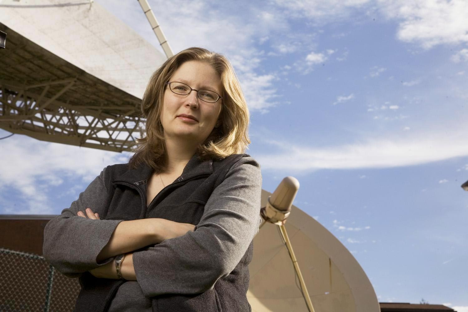 Astronomer Kelsey Johnson will follow in the footsteps of Edwin Hubble as president of the Astronomical Society of the Pacific. (Photo by Tom Cogill)
