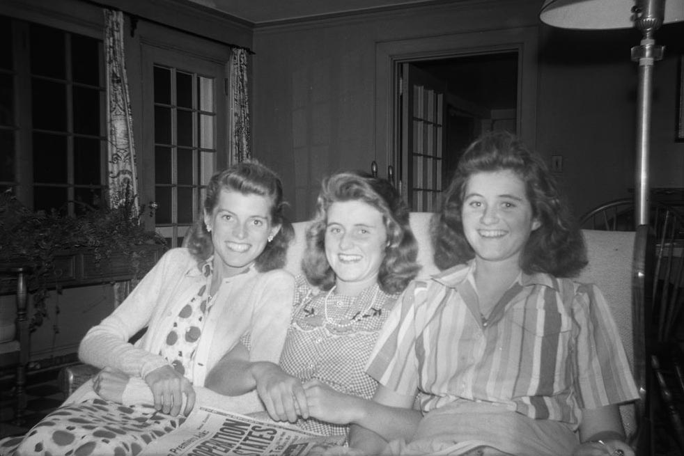 From left, sisters Eunice Kennedy, Kathleen Kennedy and Jean Kennedy in 1941.