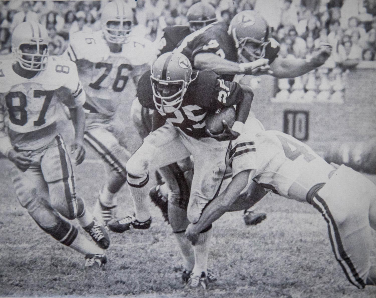 In 1970, Merritt became one of the first four African-American football players at UVA.
