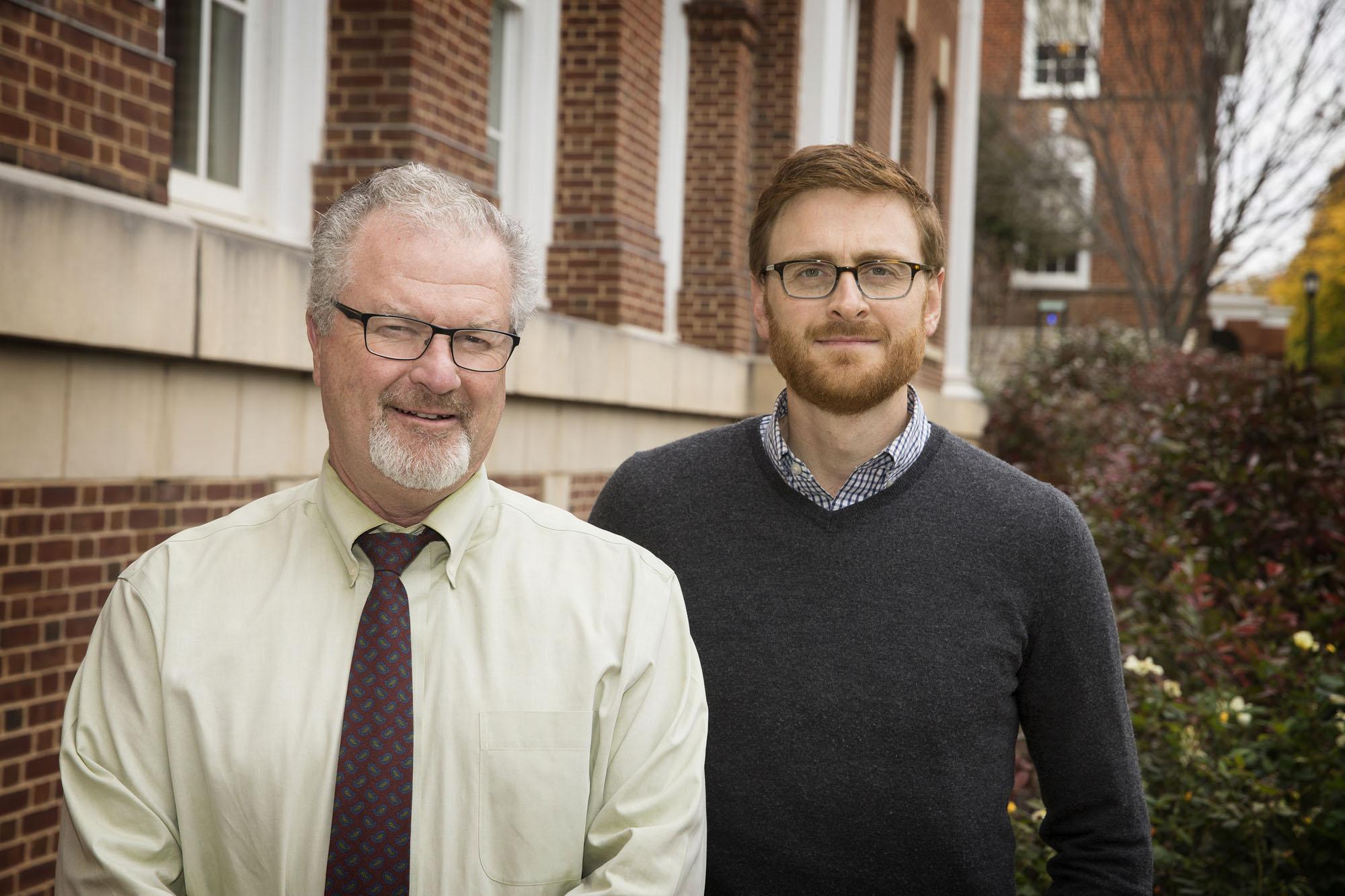 Researchers Kieran O'Connor, left, and Thomas Bateman, right.