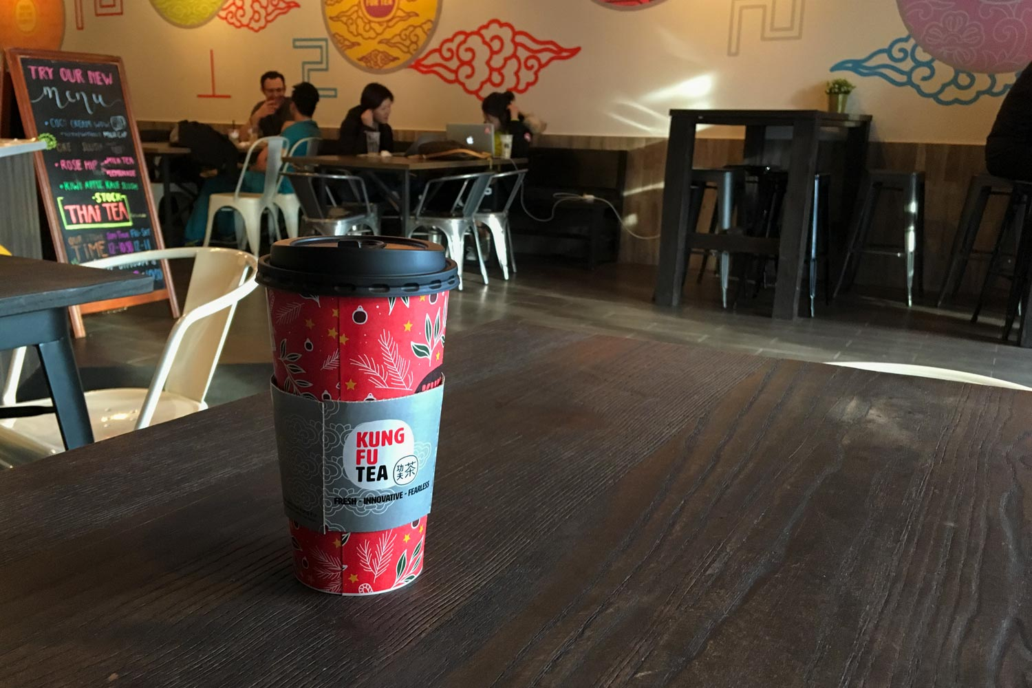 """In addition to its exotic """"Bubble Tea,"""" Kung Fu Tea offers coffee."""