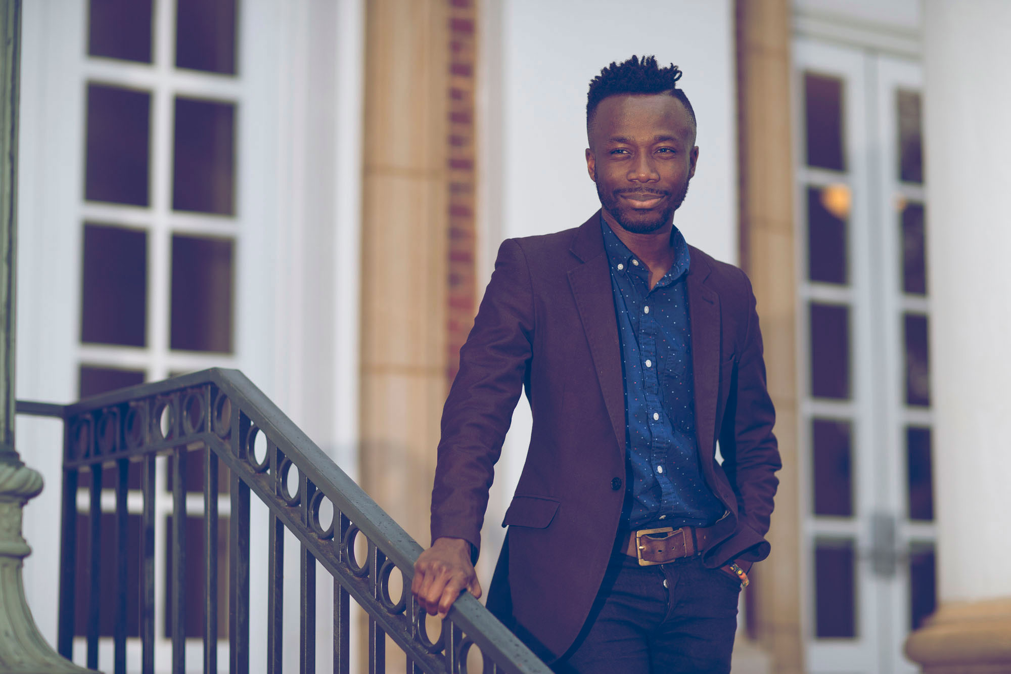 """Edwin Otu investigated the lives of """"sassoi,"""" which translates as """"self-identified effeminate men"""" from the middle and lower classes in Ghana. (Photo by Dan Addison/University Communications)"""