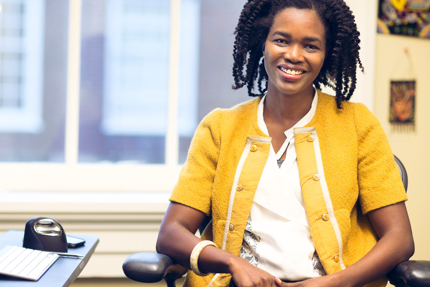 Kisha Lashley, an assistant professor in the McIntire School of Commerce, will join UVA engineering student Elizabeth Harrington to discuss a film about female leadership in tech start-ups. (Photo by Dan Addison)
