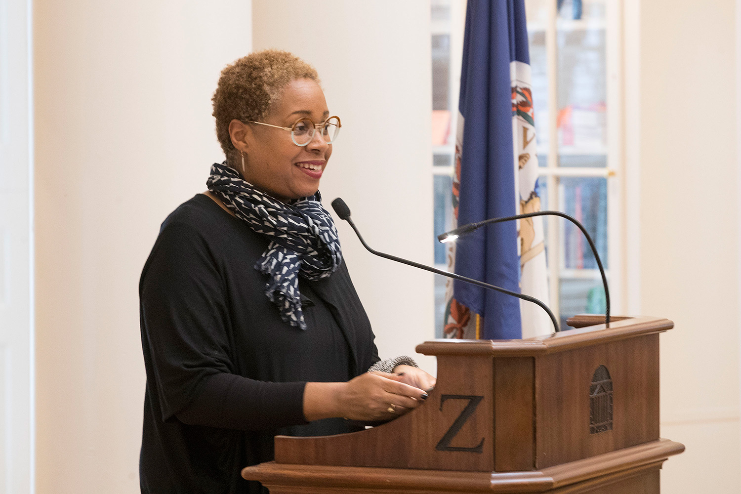 """""""It's been an extraordinary experience to be involved in this project,"""" said UVA alumna Mabel Wilson, a member of the memorial design team and a professor of architecture at Columbia University."""