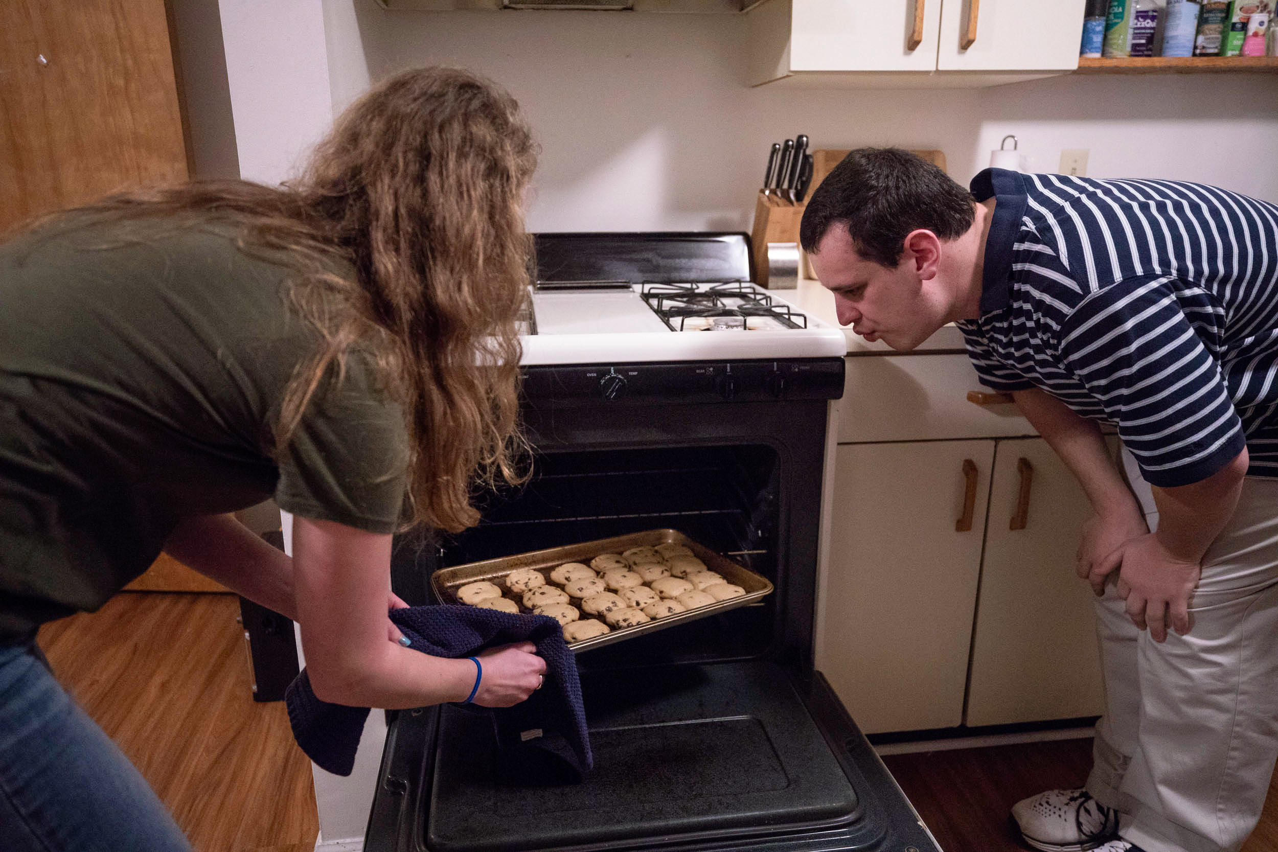 One afternoon earlier this semester, Neal and Rocker hung out at her apartment on 14th Street, where they baked chocolate chip cookies.