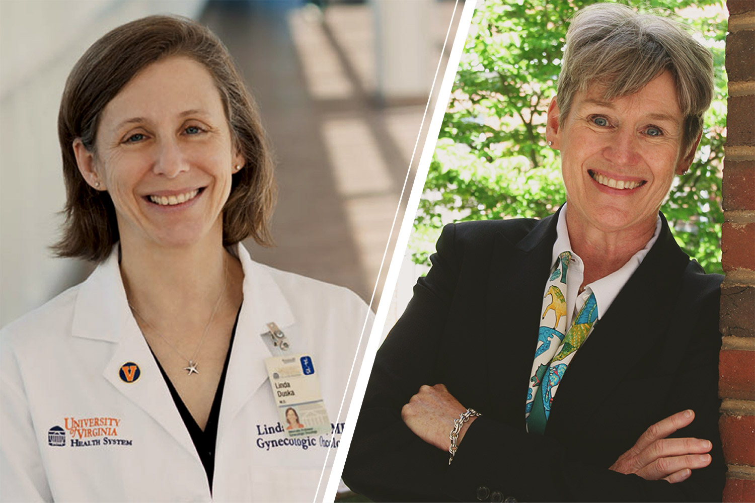 Dr. Linda Duska, left, and Dr. Susan Pollart were selected to a program that helps prepare women for leadership roles in academic medicine.