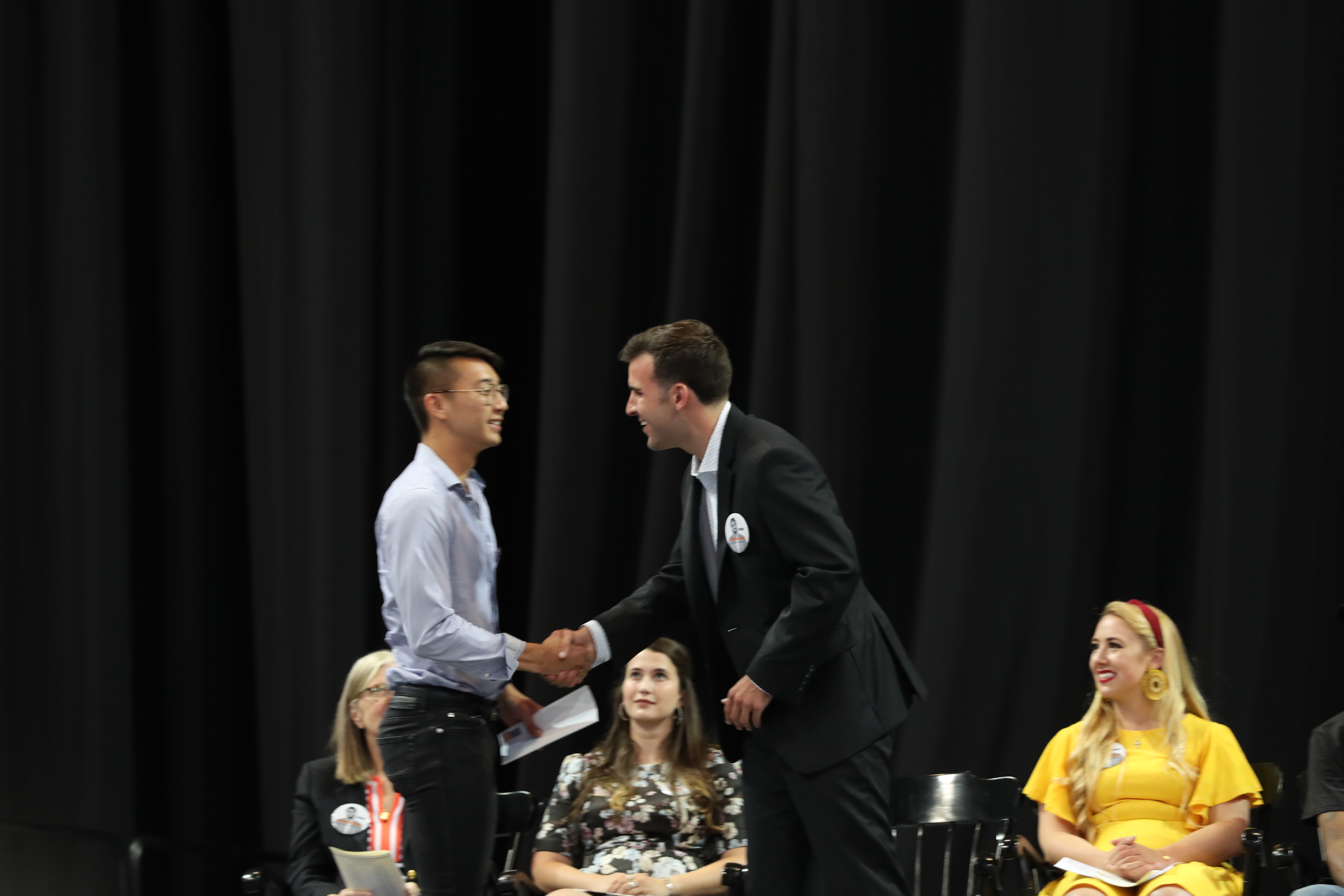 Nicholas Tully presented the Seven Society's James Earle Sargeant Award to the Living Wage Campaign, accepted by Todd Lee.