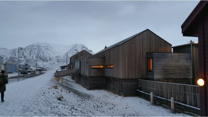 Students studied examples of Arctic architecture in Longyearbyen, the largest city on the island of Svalbard.