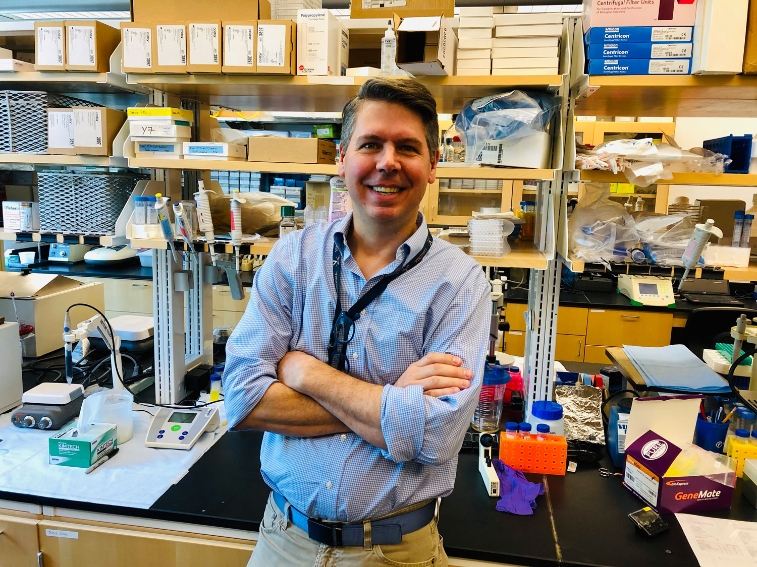 Loren Erickson's team found that people with the meat allergy have a distinctive form of immune cells known as B cells, and they have them in great numbers. (Photo by Josh Barney)