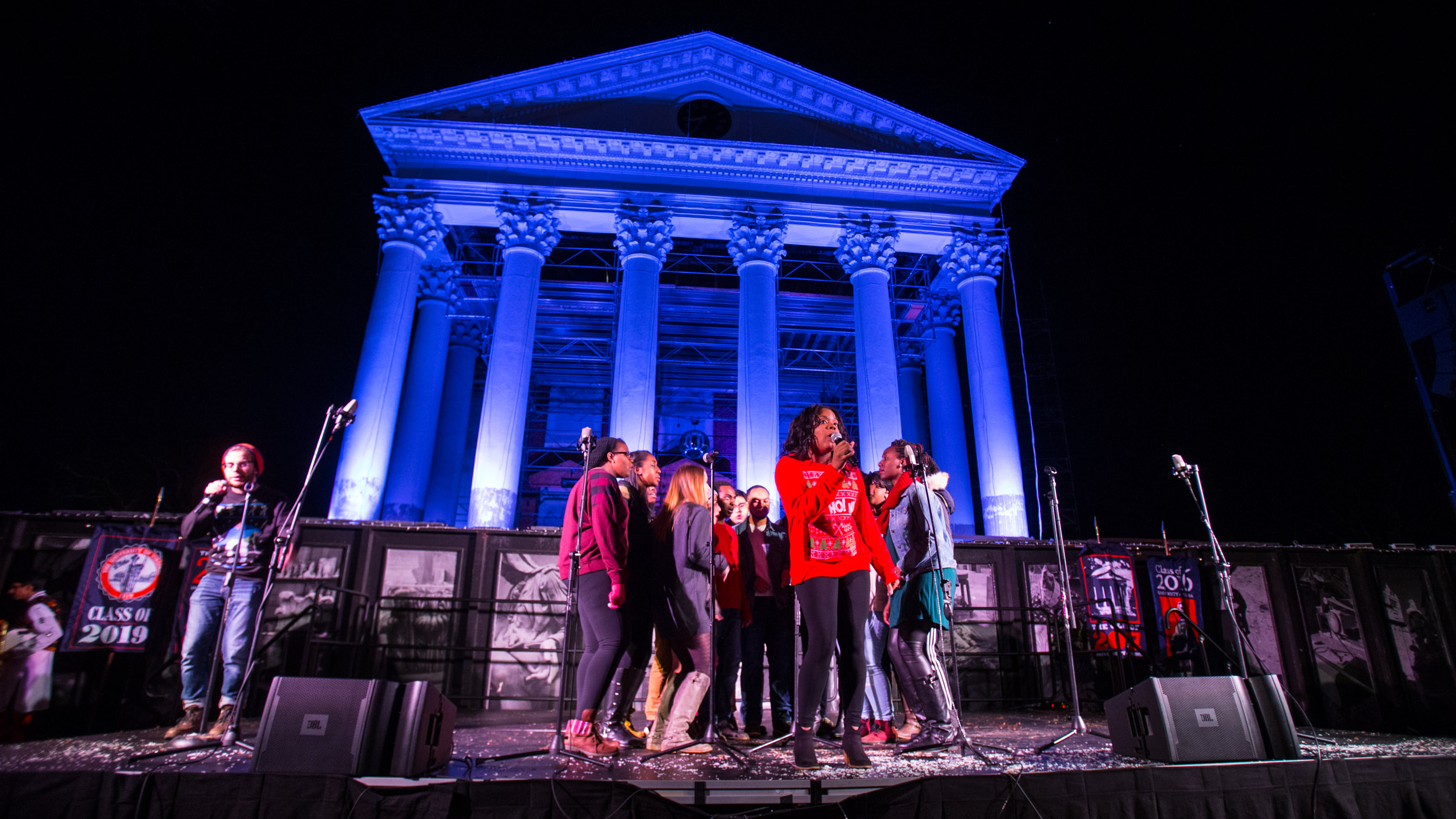 Several student a cappella groups, from the University and beyond, performed during Lighting of the Lawn.