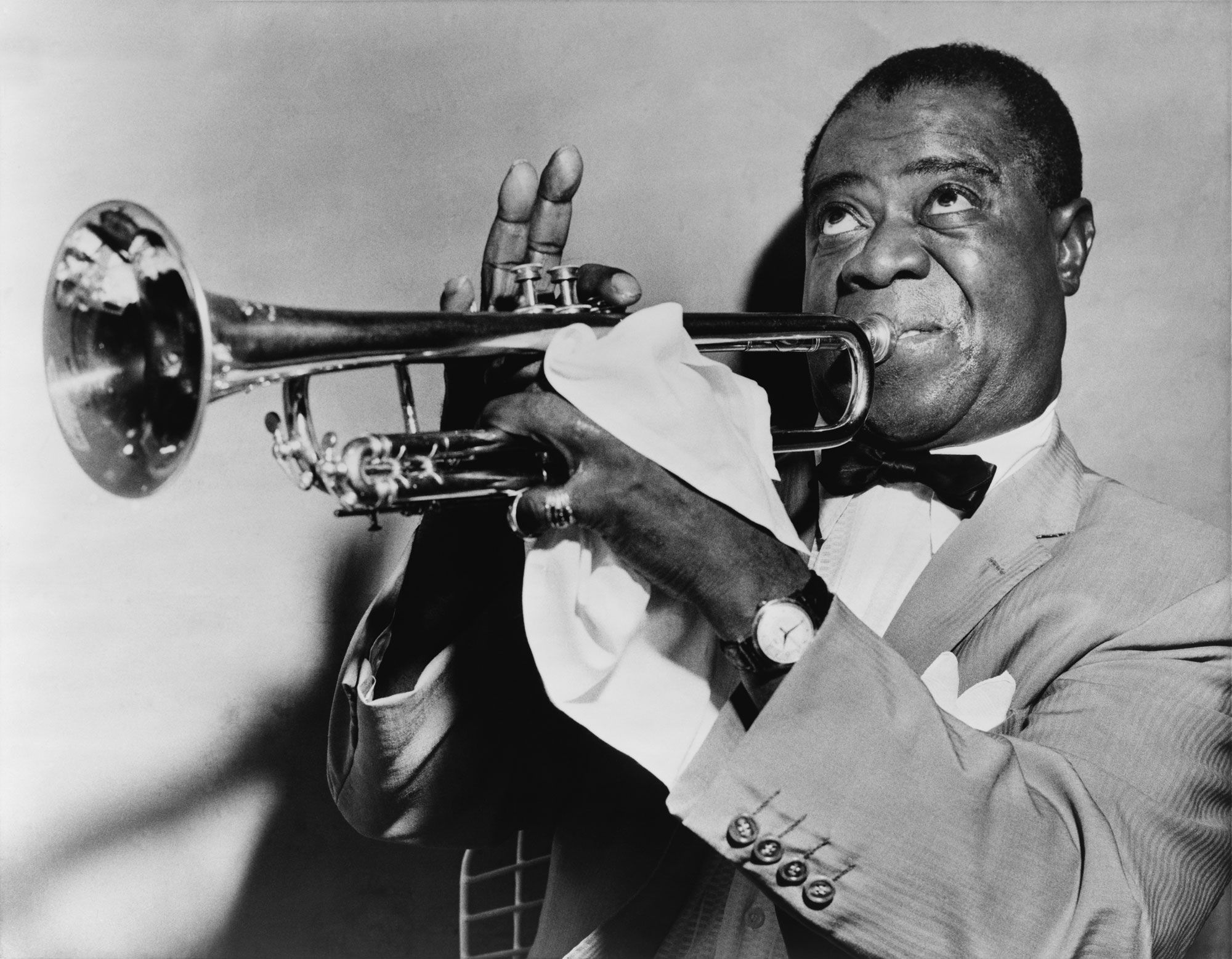 Louis Armstrong, 1953. (Library of Congress Prints and Photographs Division, New York World-Telegram and the Sun Newspaper Photograph Collection)