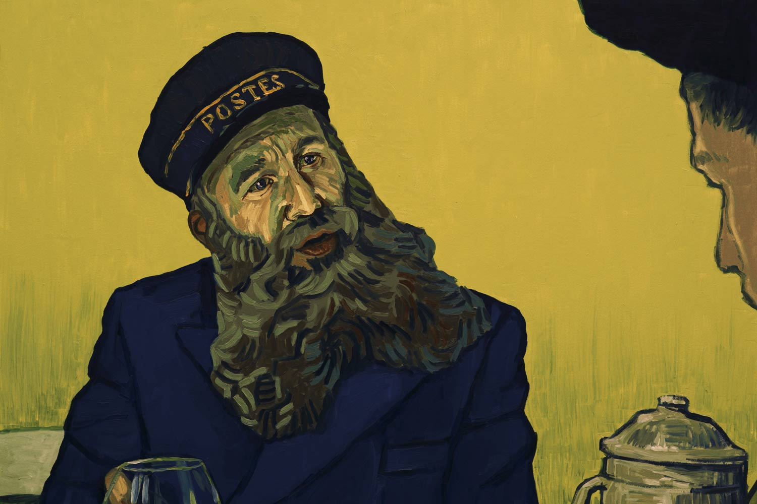 """Actor Chris O'Dowd, who has also appeared in """"Bridesmaids,"""" plays a postman – one of Van Gogh's subjects – in the film."""