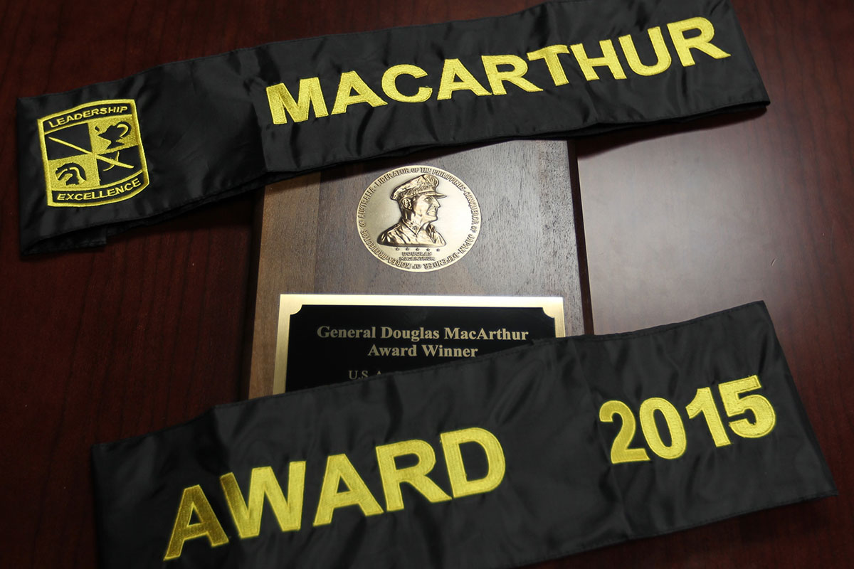 Only eight Army ROTC units across the country earn the MacArthur Award.