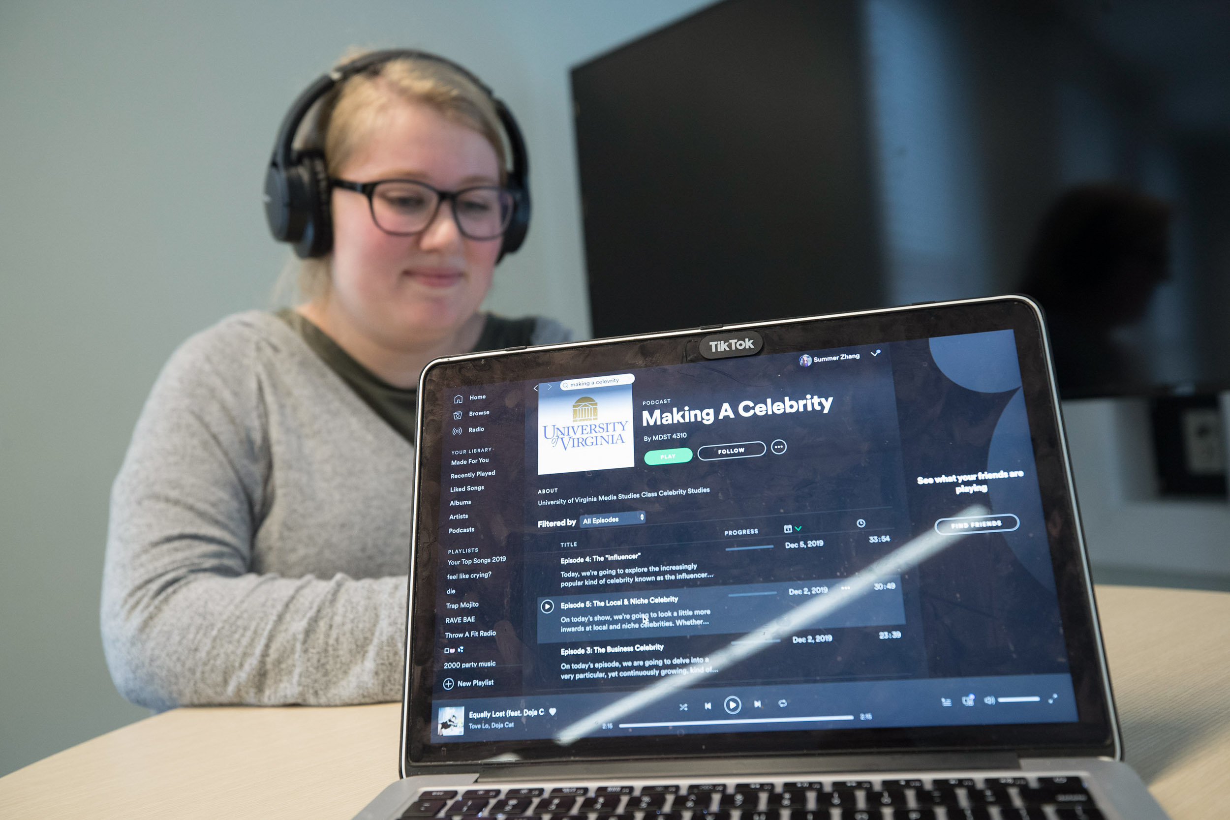 Students took a deep dive into what makes a celebrity a celebrity by producing a series of podcasts.