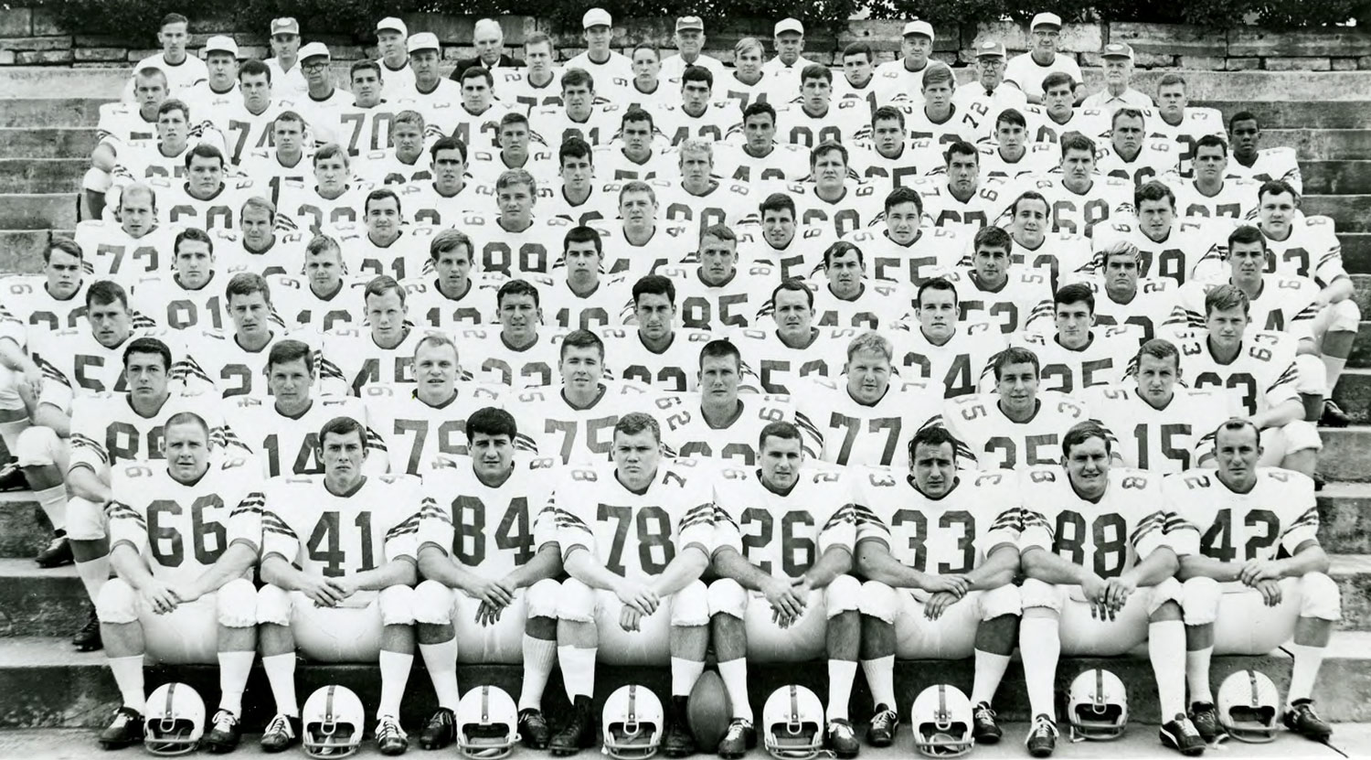 As the only African-American player on the roster, Marcus Martin was a singular presence in this 1967 team photo. His teammates, he said, were supportive of his inclusion.
