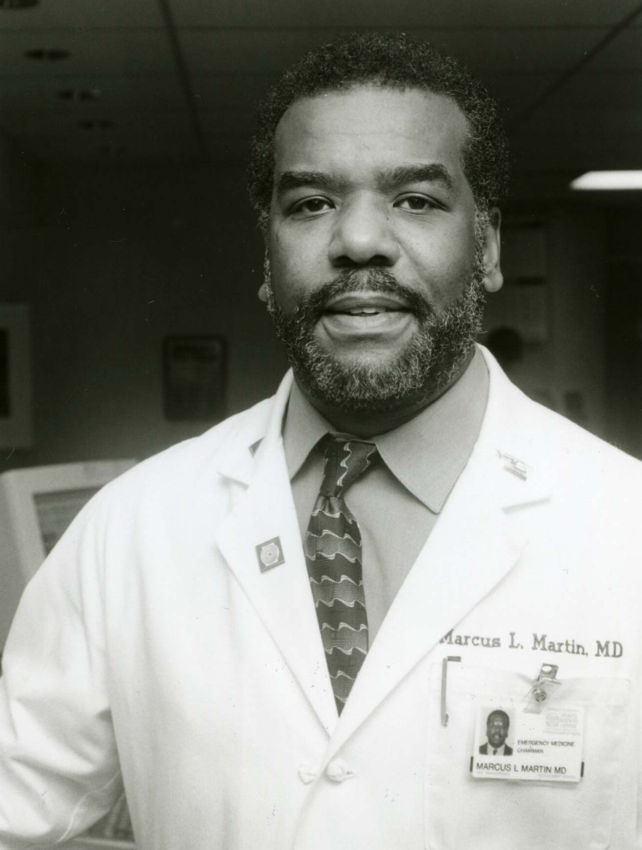 Martin, here in 1997, was the first African American to chair a clinical department at the UVA School of Medicine. (Photo courtesy of Albert and Shirley Small Special Collections Library)