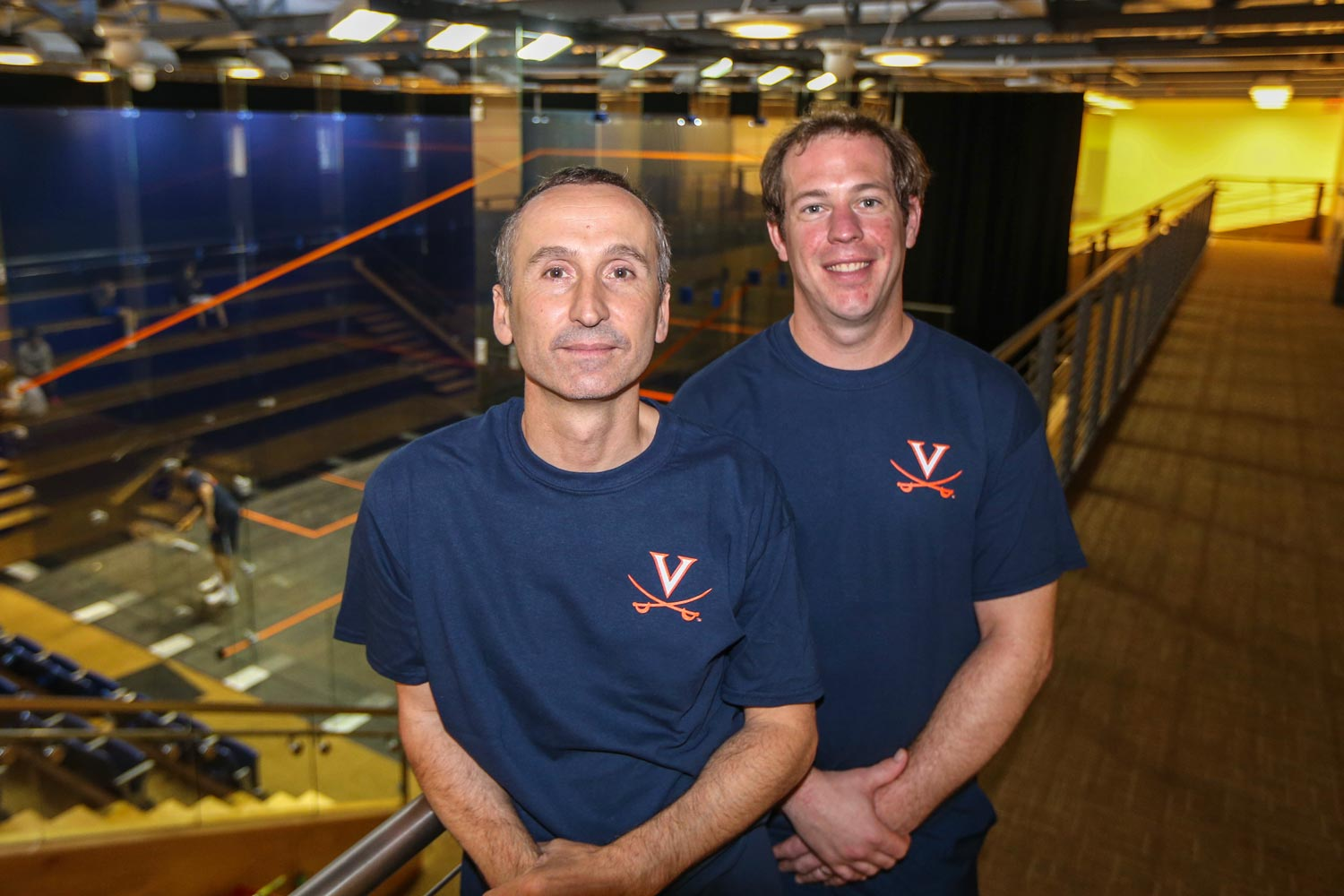 Head coach Mark Allen, left, and assistant Grant White wlll lead both the men's and women's programs. (UVA Athletics photo)