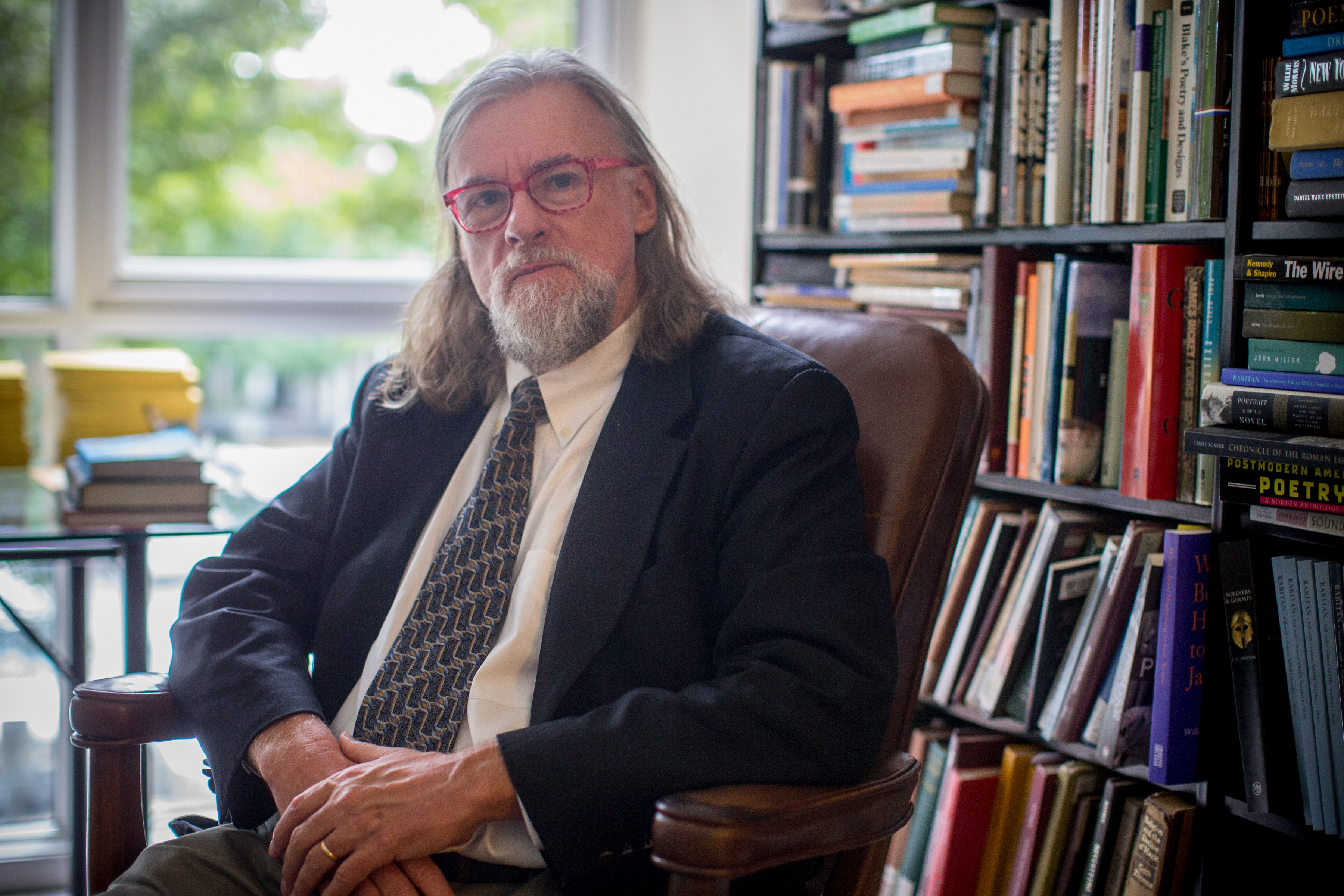 """Mark Edmundson has published nonfiction books from """"Why Write?"""" to """"Nightmare on Main Street."""" (Photo by Sanjay Suchak, University Communications)"""