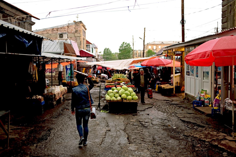 A market in Gyumri, Armenia