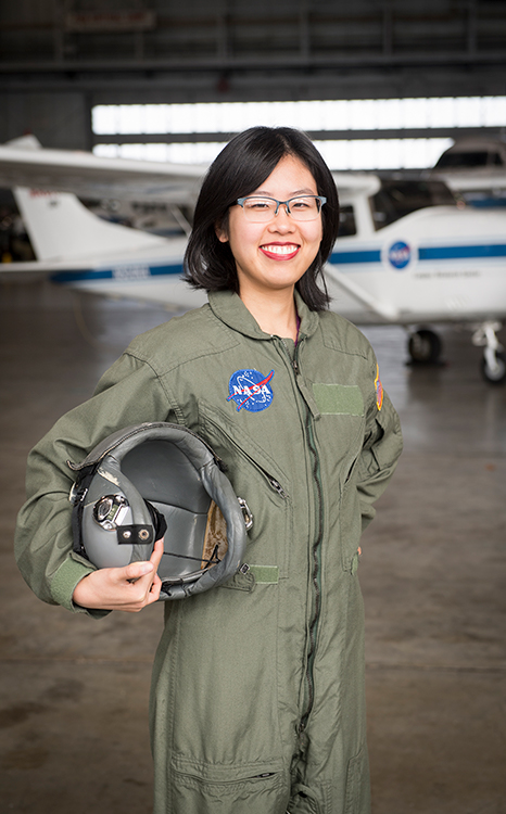 UVA student Lucia Tian spent the fall and spring semesters at NASA Langley Research Center in Hampton, and is spending this summer at NASA's Kennedy Space Center in Merritt Island, Florida