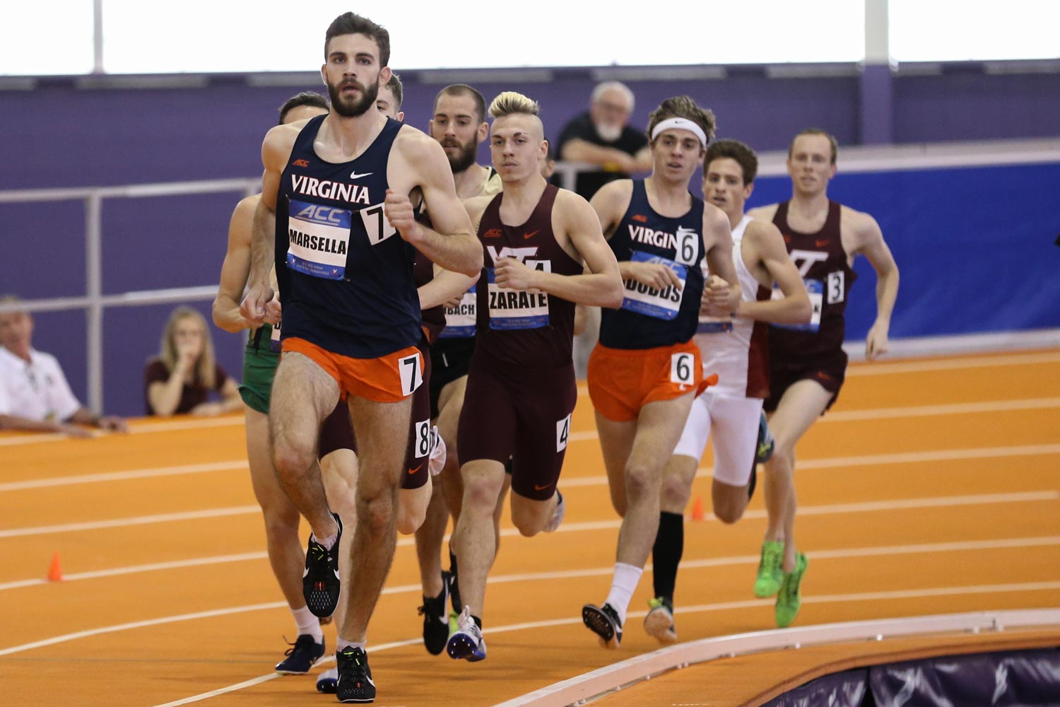 A moped accident nearly ended Marsella's running career when he was a first-year. (Photo by Jim Daves, University Athletics)