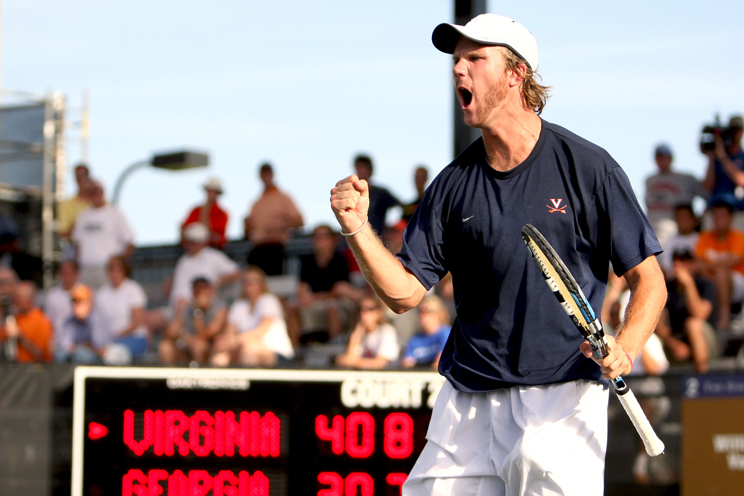 Since winning an NCAA title in doubles while at UVA, Dom Inglot has participated on Great Britain's championship Davis Cup team. He begins play at Wimbledon this week. (Photo credit: Matt Riley and UVA Athletics)