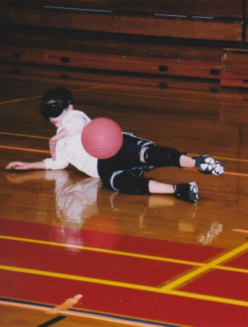 Simpson took up goalball when he was 10 years old. (Photo by Hal Simpson)