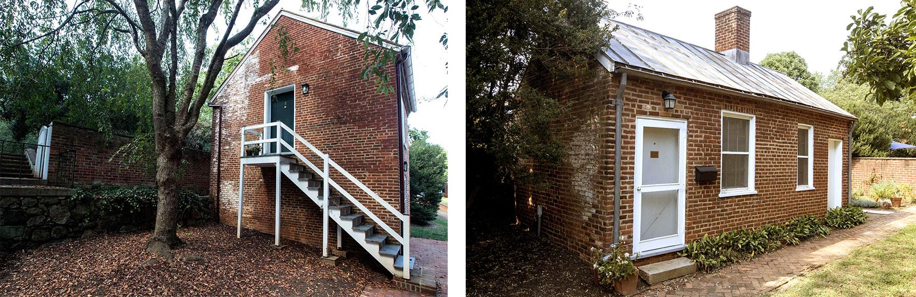 The Crackerbox and McGuffey Cottage (Photos by Dan Addison, University Communications)