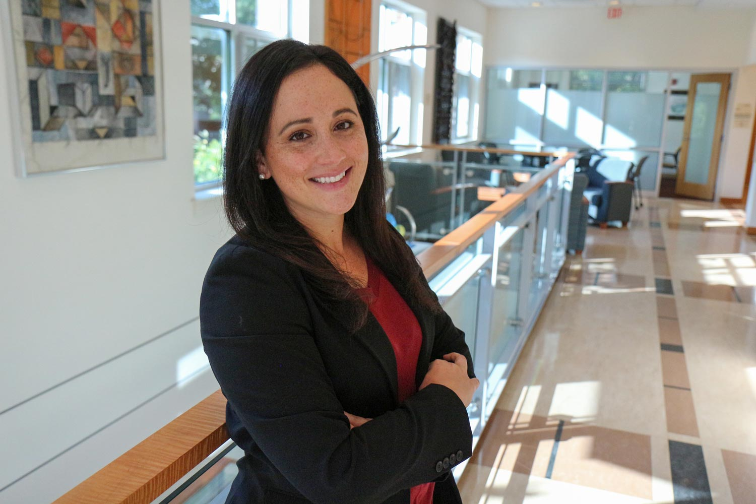 Meghan Mattos, on assistant professor of nursing, won a $300,000 Translational Health Research Institute grant to study an online intervention that promotes better sleep patterns in the elderly.