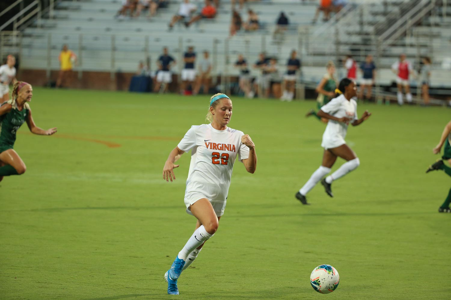 UVA forward Meghan McCool has scored eight goals for the undefeated Hoos this season.