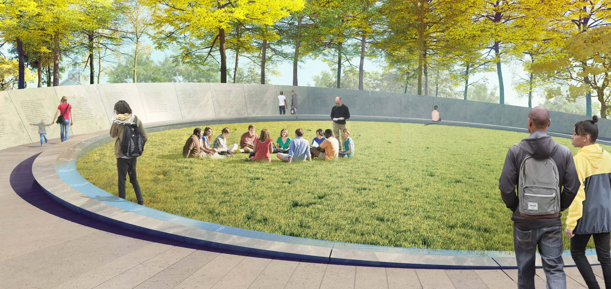 A formal dedication of the Memorial to Enslaved Laborers will be held April 11. (Image courtesy of Höweler+Yoon)