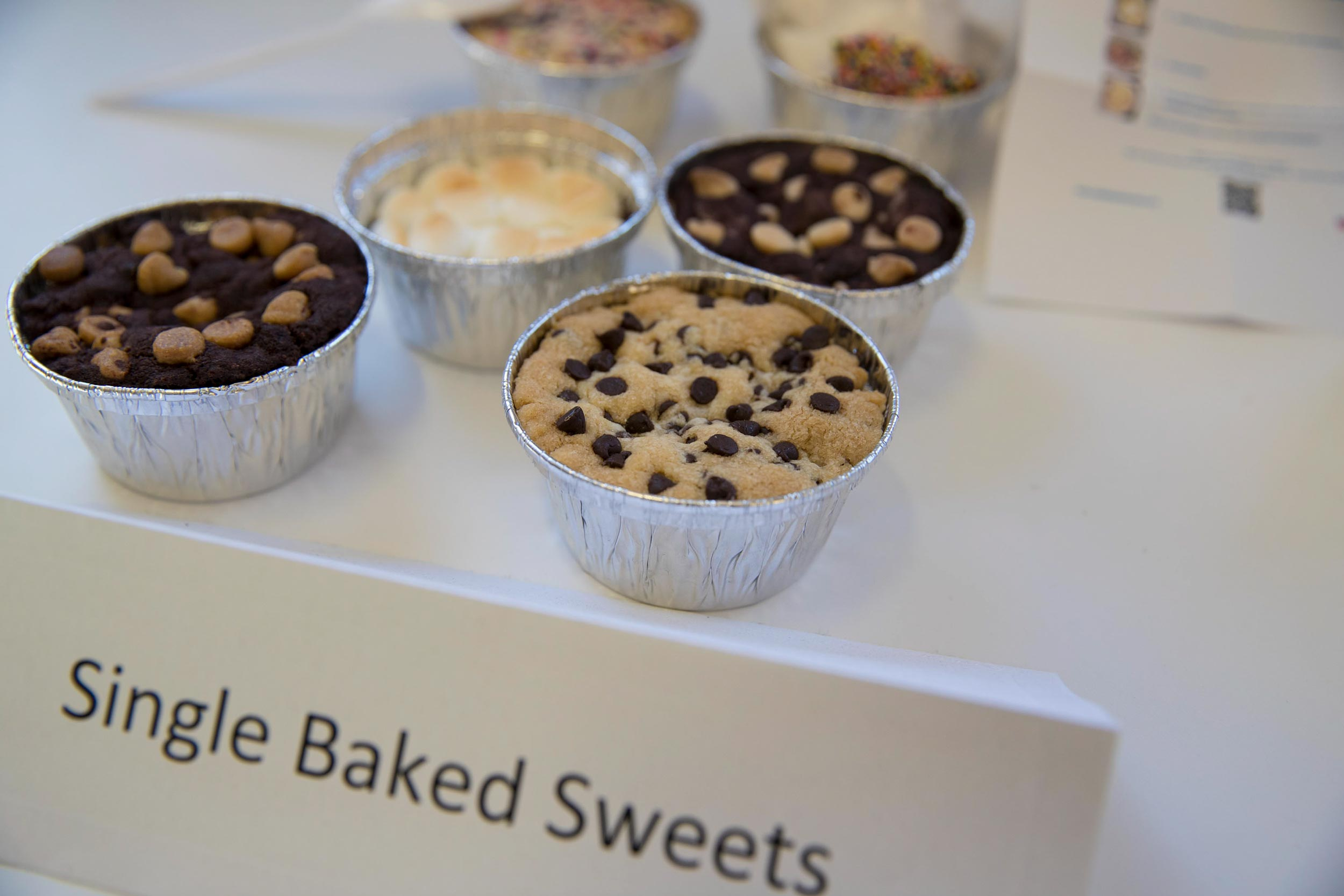 Stefaniak currently offers five desserts: a chocolate chip cookie, a s'mores pie, a sugar cookie, a dark chocolate cookie with white chocolate chips and a dark chocolate peanut butter cookie.