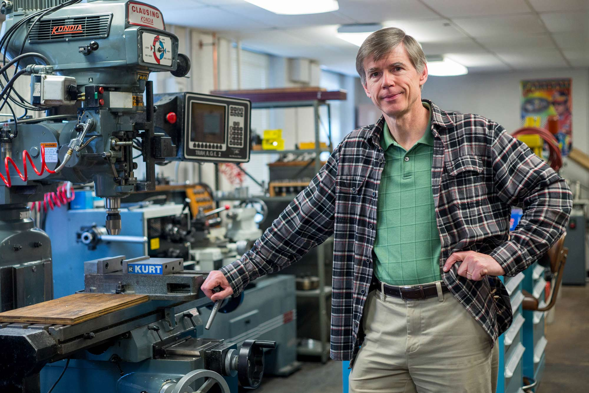 Astronomer Mike Skrutskie heads a UVA lab that designs astronomical instruments.