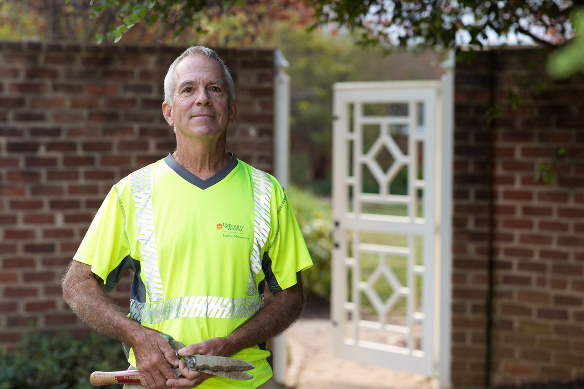 Gardener Mike Beaudreau has worked in the pavilion gardens for 22 years.