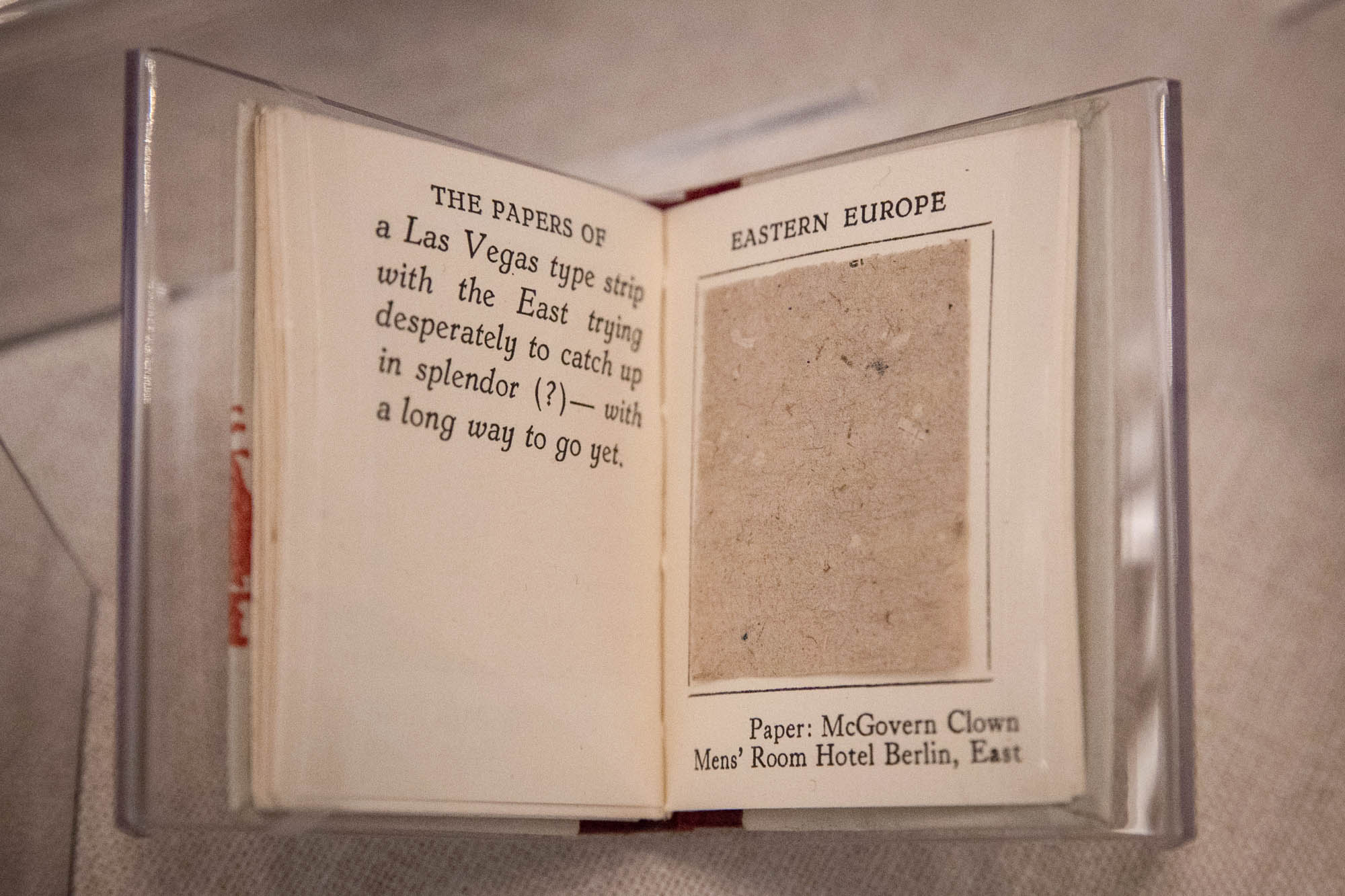 "Miniature book ""The Papers of Eastern Europe"""
