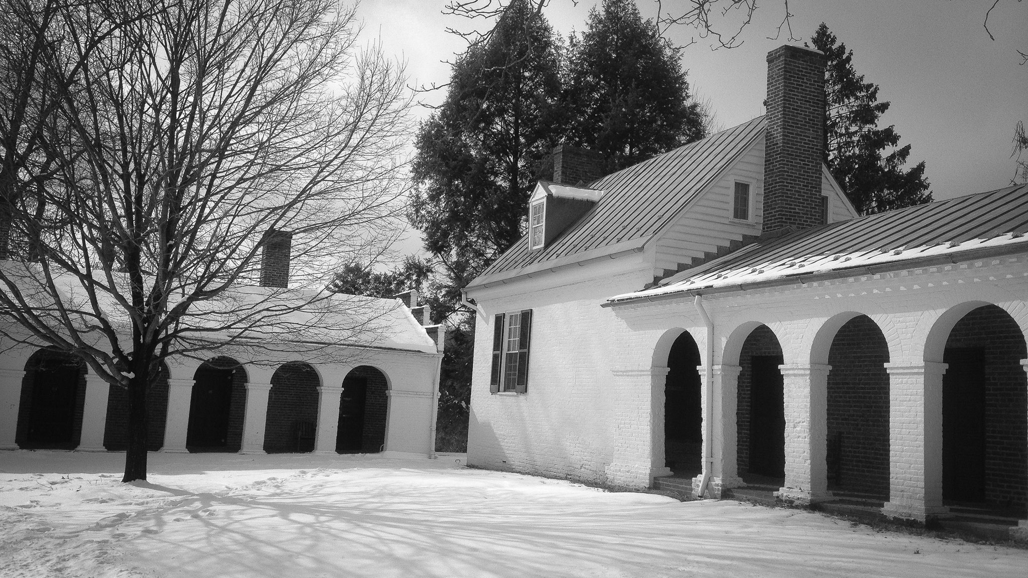 The oldest building on Grounds, James Monroe's law office, was built in 1789-90. Photo by Eduardo Montes-Bradley.