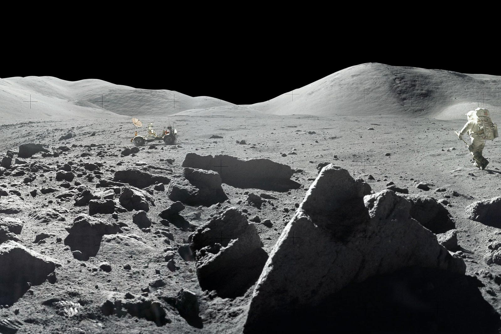 The Apollo missions brought back 2,200 lunar samples, all but six of which have been studied. (NASA photo)