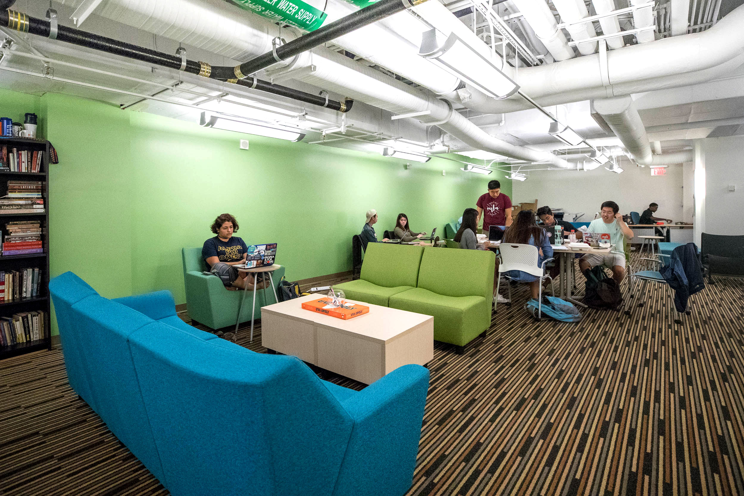 Students are already taking advantage of the Multicultural Center by using it as a place to study, collaborate, hold meetings and host events. (Photos by Sanjay Suchak, University Communications)