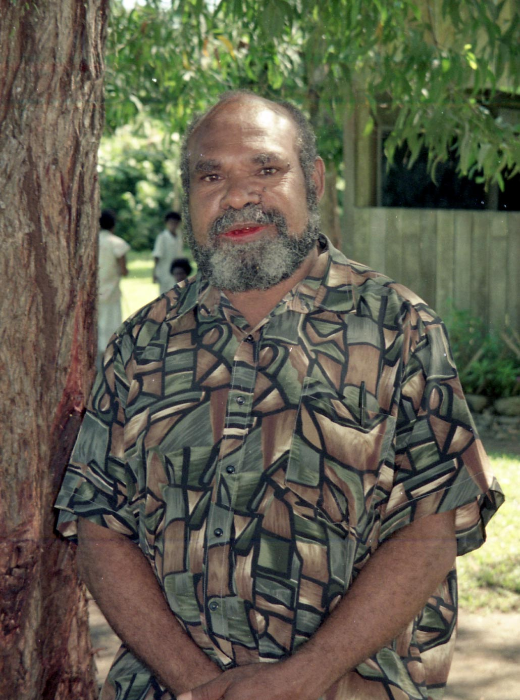 Bernard Narokobi, depicted here in 1998, helped compose the constitution for his country, Papua New Guinea, which gained independence in 1975.