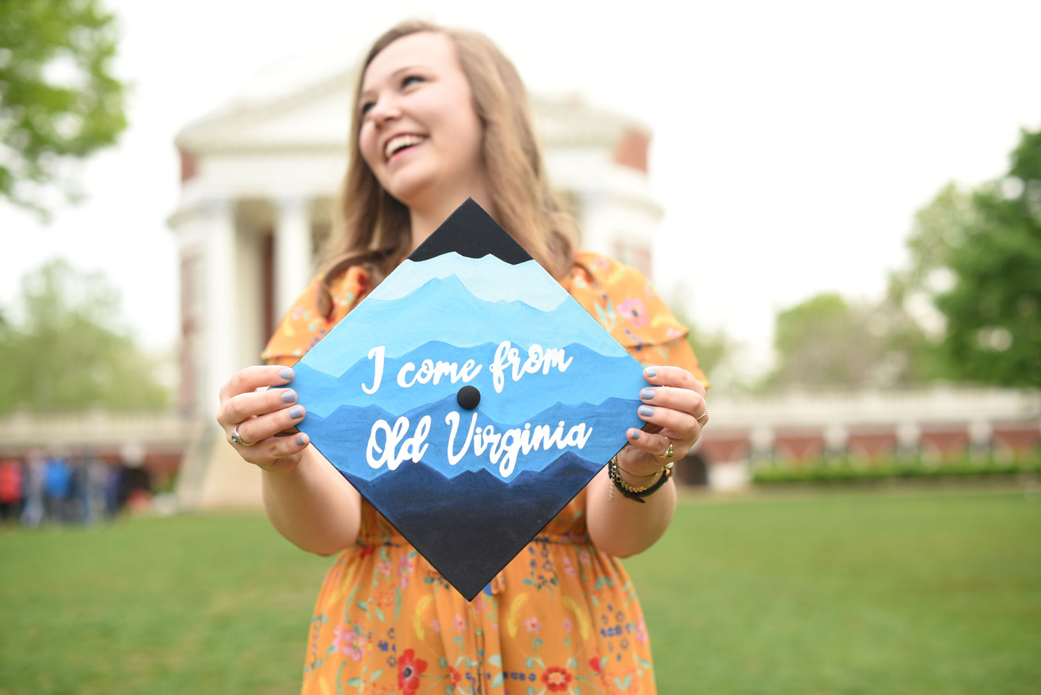 """Nicole Baker featured a UVA classic – """"The Good Ol' Song"""" – and the beautiful Blue Ridge Mountains."""