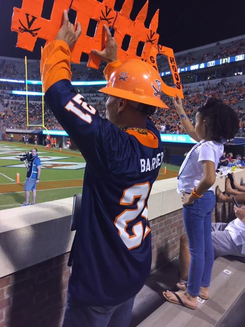 For UVA's game against Old Dominion University last month, Patasomcit sat with his 6-year-old grandniece.