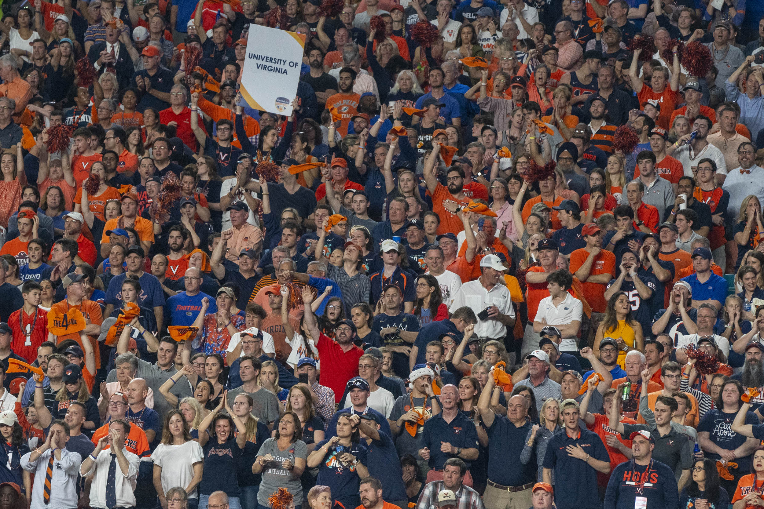 More than 65,000 fans were on hand, and the UVA contingent made themselves heard.