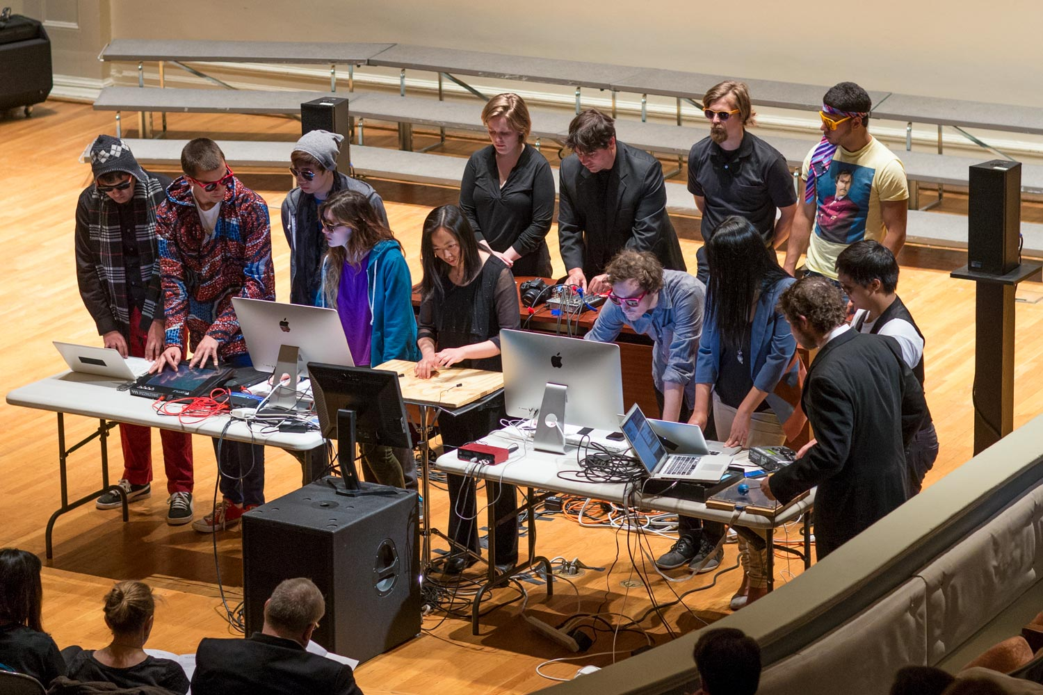 "The Mobile Interactive Computer Ensemble, or MICE, will perform Saturday, and director Matthew Burtner will share his original composition, ""The Ceiling Floats Away."""